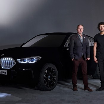 BMW Unveils X6 in the world's 'blackest black'